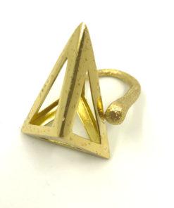 anello in bronzo a piramide opus4