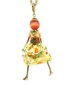 collana le carose gold dress yellow