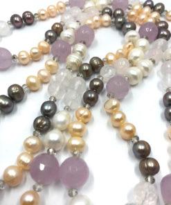 collana perle mix multicolor rosa grigia 02