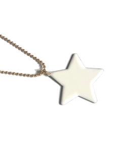 collana stella bianca nuage d'etoiles
