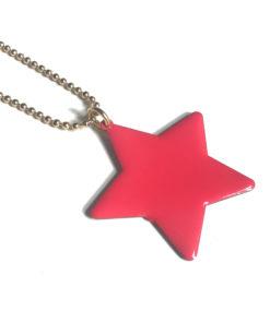 collana stella rosso lampone nuage d'etoiles