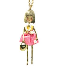 collana the flappers gold vestitino pois rosa e giallo le carose