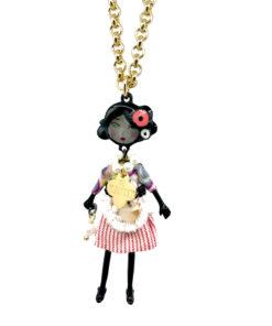 collana the flappers piccola gold vestitino chanel multicolor le carose