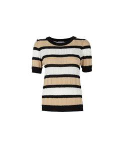 t-shirt strutturta a righe multicolor jijil 01
